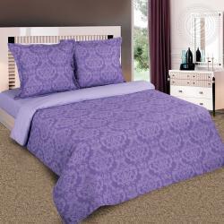 """Купить постельное белье поплин гладкокрашеный """"Византия фиолетовая"""" в Калуге"""