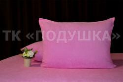 Купить розовые махровые наволочки на молнии в Калуге